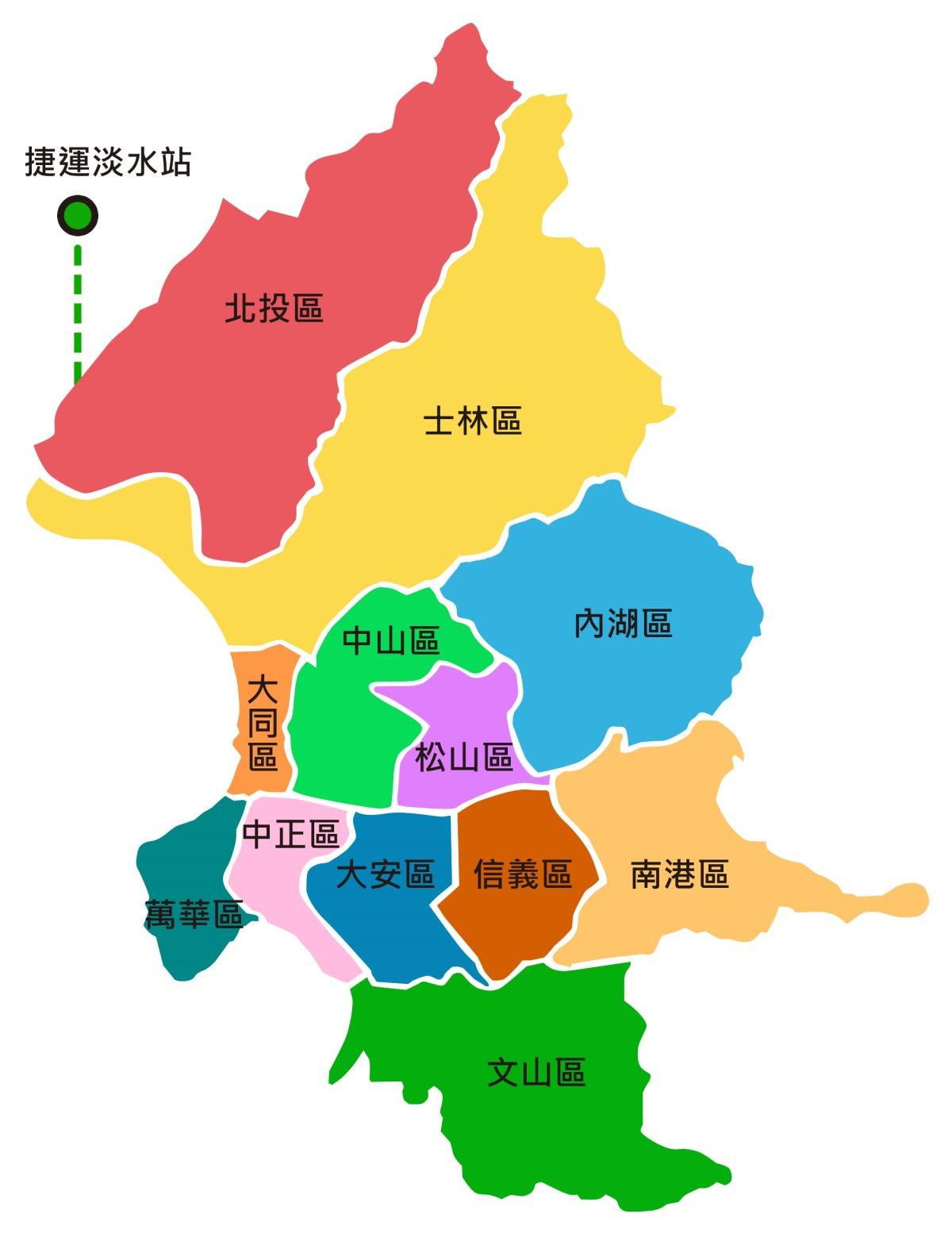 臺北市區域MAP圖