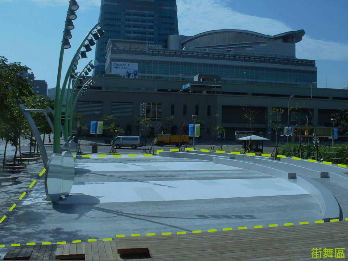 市民廣場及市政大樓週邊場地街舞區